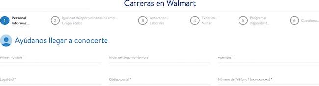 Aplicación de trabajo Walmart