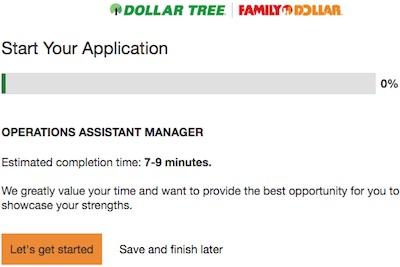 Dollar Tree aplicacion de trabajo