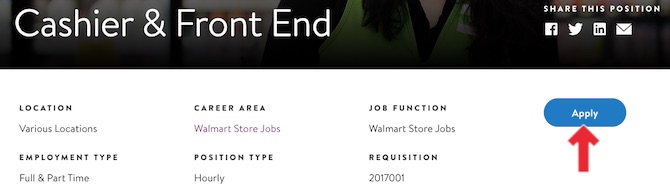 Apply Walmart job
